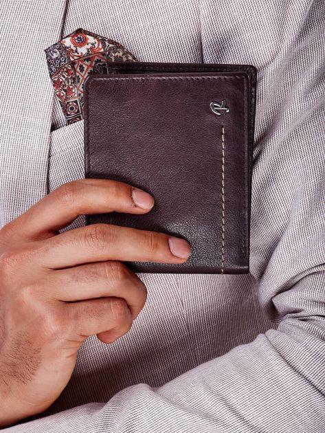Brązowy miękki portfel męski skórzany                              zdj.                              6