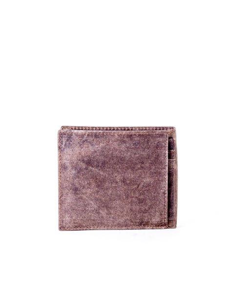 Brązowy miękki portfel męski ze skóry naturalnej                               zdj.                              2