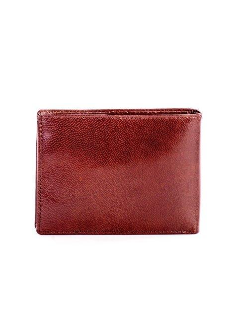Brązowy miękki skórzany portfel dla mężczyzny                              zdj.                              2
