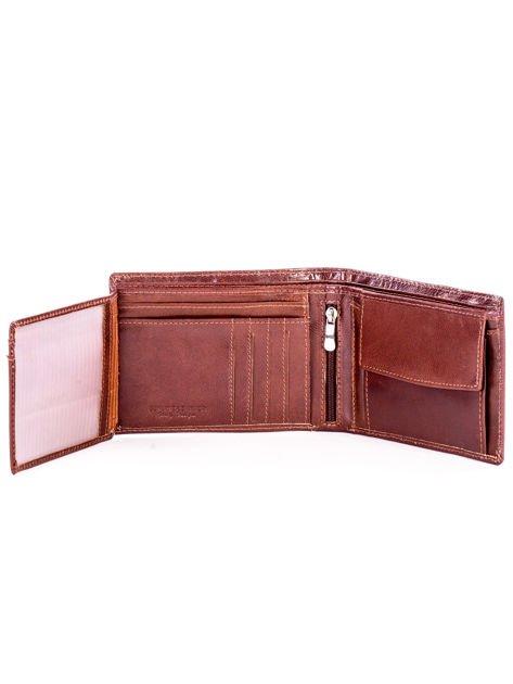Brązowy miękki skórzany portfel dla mężczyzny                              zdj.                              5
