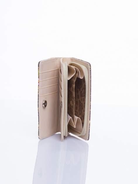 Brązowy mini portfel w sówki                                  zdj.                                  3