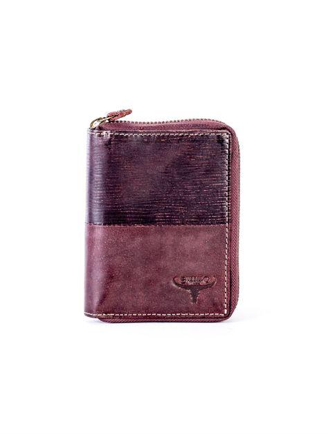 Brązowy portfel dla mężczyzny na suwak                              zdj.                              1