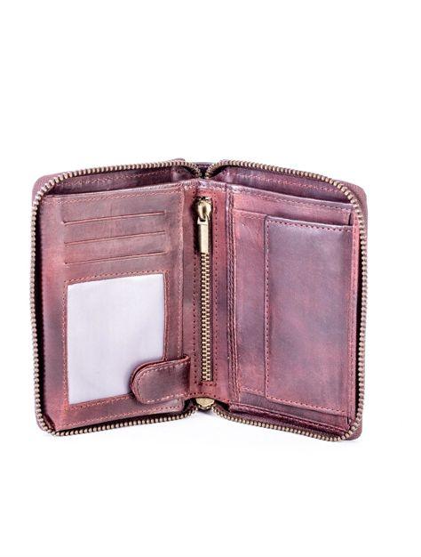 Brązowy portfel dla mężczyzny na suwak                              zdj.                              5
