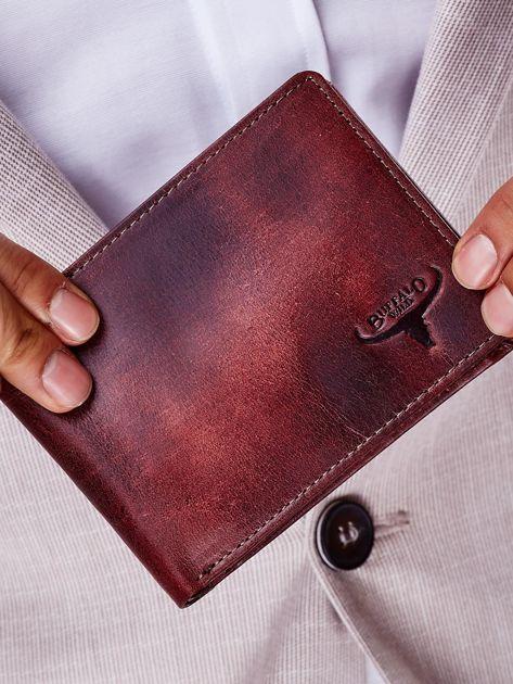 Brązowy portfel męski ze skóry naturalnej                              zdj.                              1