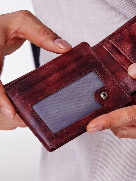 Brązowy portfel męski ze skóry naturalnej                              zdj.                              3
