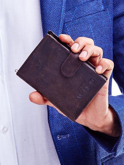 Brązowy portfel skórzany dla mężczyzny