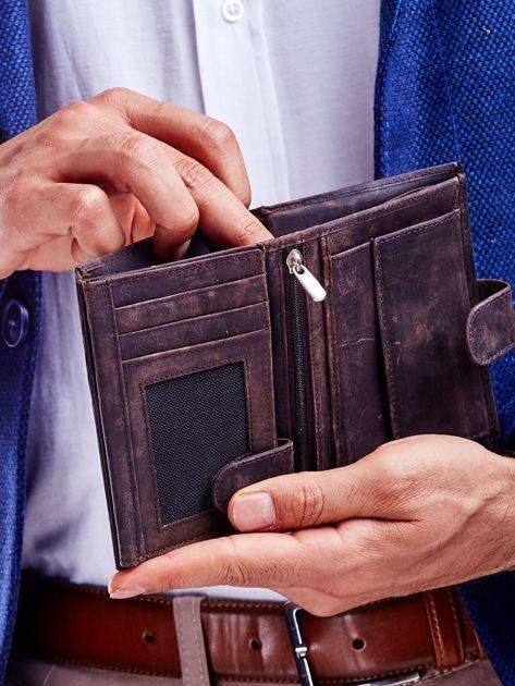 Brązowy portfel skórzany dla mężczyzny                               zdj.                              3