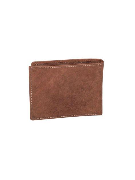 Brązowy portfel ze skóry naturalnej dla mężczyzny                              zdj.                              2