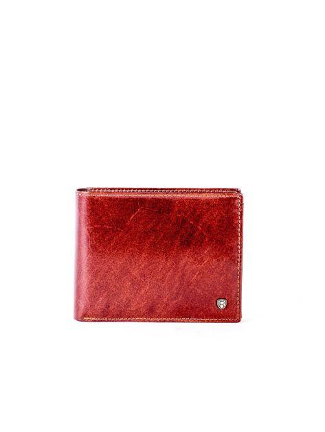 Brązowy portfel ze skóry naturalnej z przegródkami                              zdj.                              1