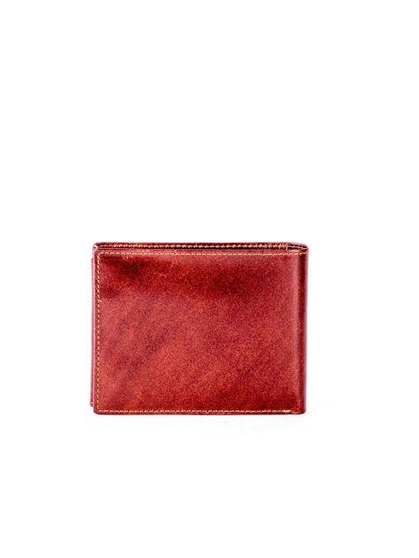 Brązowy portfel ze skóry naturalnej z przegródkami                              zdj.                              2