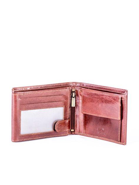 Brązowy portfel ze skóry naturalnej z przegródkami                              zdj.                              4