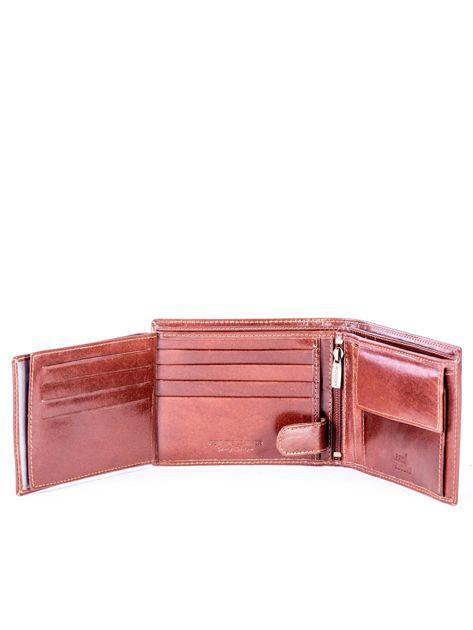 Brązowy portfel ze skóry naturalnej z przegródkami                              zdj.                              6