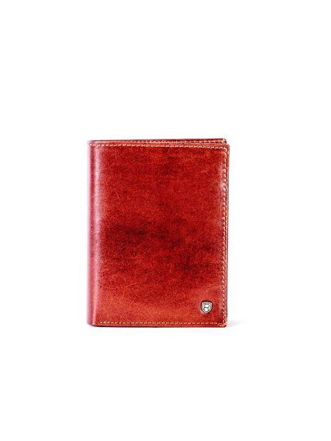 Brązowy skórzany portfel                               zdj.                              1