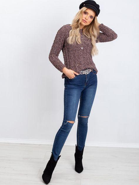 Brązowy sweter Andrea                              zdj.                              4