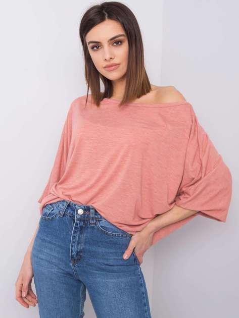 Brudnoróżowa bluzka oversize Eunicia RUE PARIS