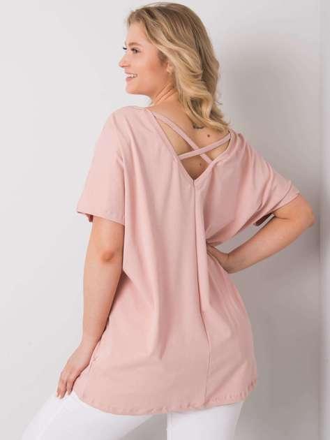 Brudnoróżowa bluzka plus size Lenora