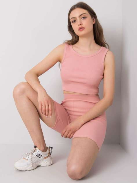 Brudnoróżowe szorty kolarki Justine RUE PARIS
