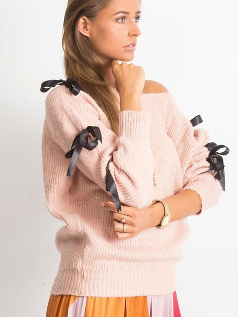 Brudnoróżowy sweter Hailee                              zdj.                              3