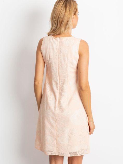 Brzoskwiniowa sukienka Give                              zdj.                              2