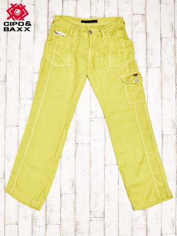 CIPO & BAXX Żółte spodnie z kieszeniami