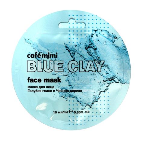 """Cafe Mimi Blue Clay Maseczka do twarzy Niebieska Glinka & Drzewo Herbaciane  10ml"""""""