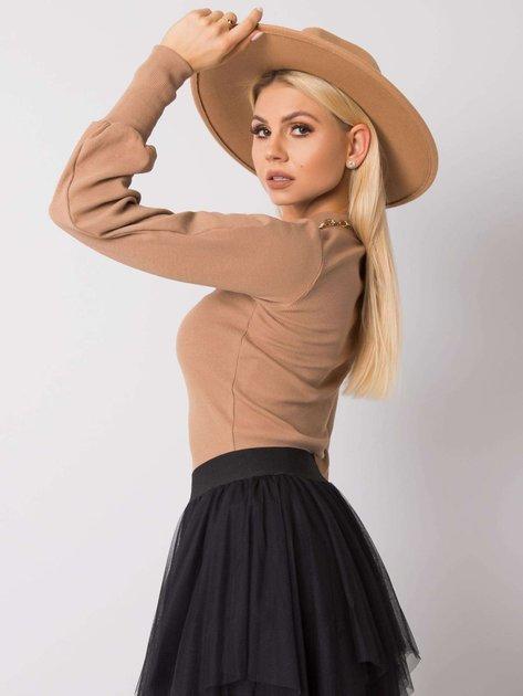Camelowa bluzka Lauren RUE PARIS