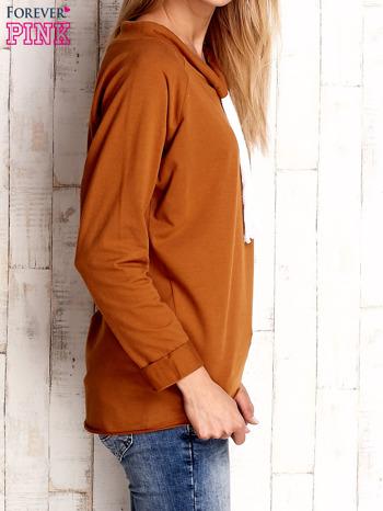 Camelowa bluzka z troczkami                                  zdj.                                  3