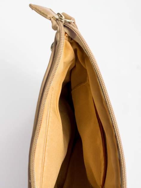 Camelowa kopertówka z dżetami motyw apple                                  zdj.                                  8