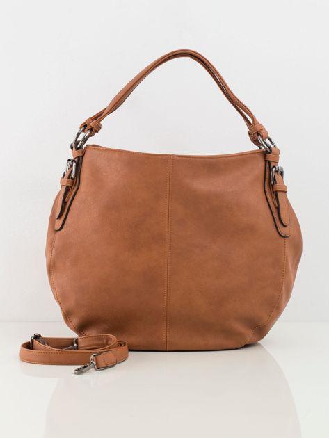 Camelowa torba damska ze skóry ekologicznej