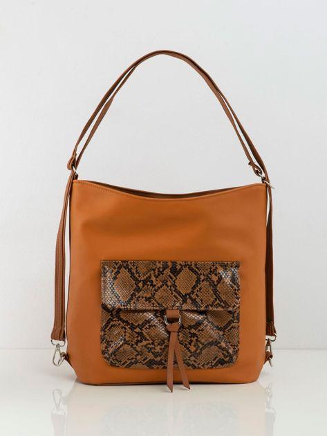 Camelowa torba z kieszenią