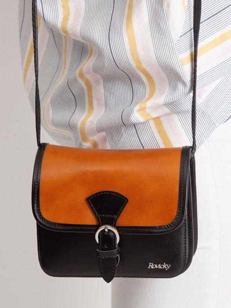 Camelowo-czarna damska torebka                              zdj.                              2