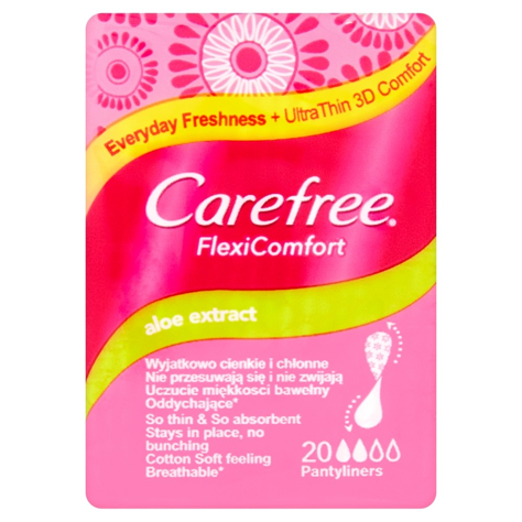 Carefree Flexi Comfort Aloe Extract Wkładki higieniczne 20 szt.