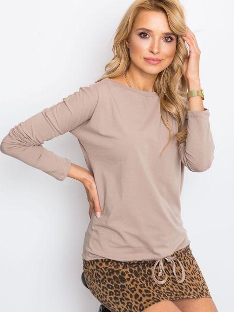 Ciemnobeżowa bluzka Carla