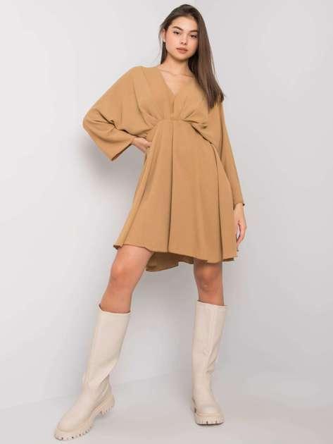 Ciemnobeżowa sukienka Zayna