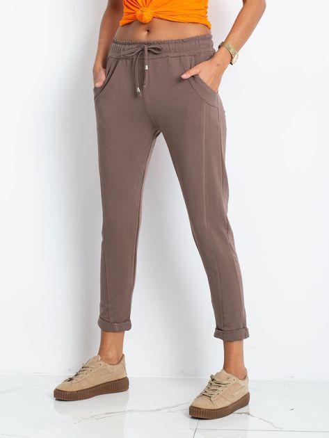 Ciemnobeżowe spodnie Approachable                              zdj.                              3