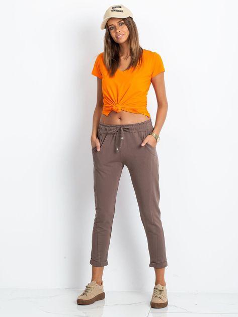Ciemnobeżowe spodnie Approachable                              zdj.                              4