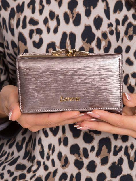 Ciemnobeżowy portfel damski