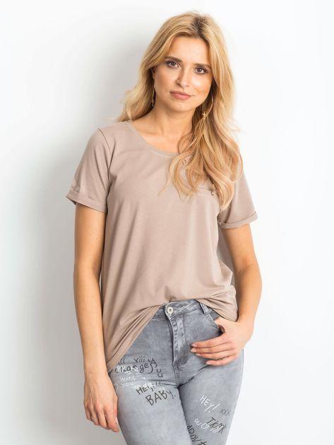 Ciemnobeżowy t-shirt Transformative