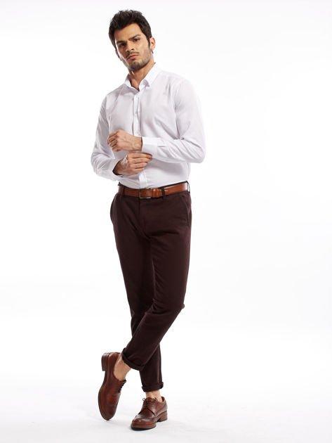 Ciemnobrązowe spodnie męskie chinos                              zdj.                              9