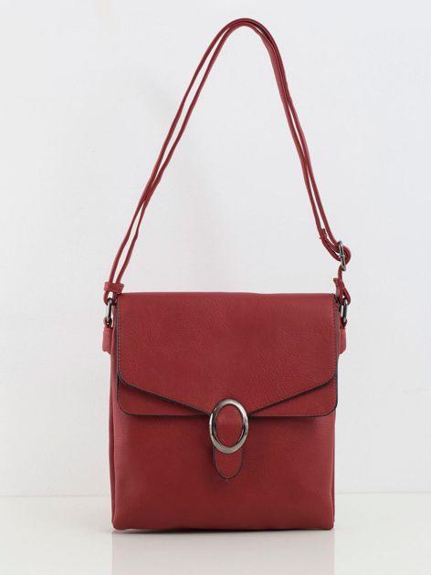 Ciemnoczerwona mała torebka z eco skóry