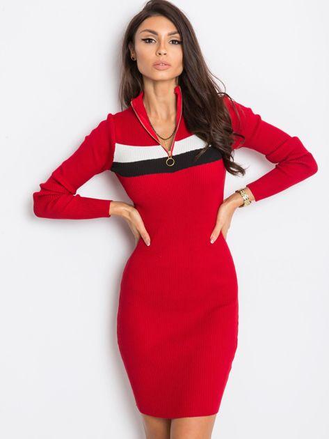 Ciemnoczerwona sukienka Freefall                              zdj.                              1