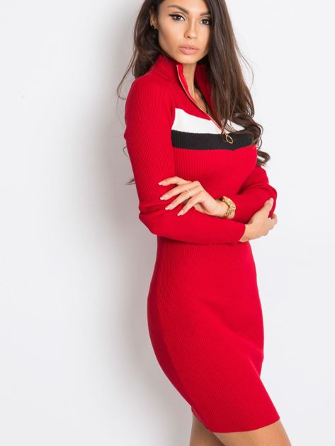 Ciemnoczerwona sukienka Freefall                              zdj.                              2