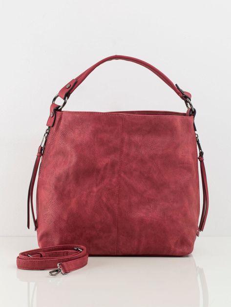 Ciemnoczerwona torba z ekoskóry