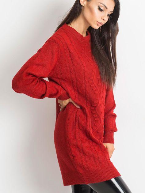 Ciemnoczerwony sweter Moment                              zdj.                              3