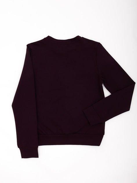 Ciemnofioletowa bluza młodzieżowa                              zdj.                              5