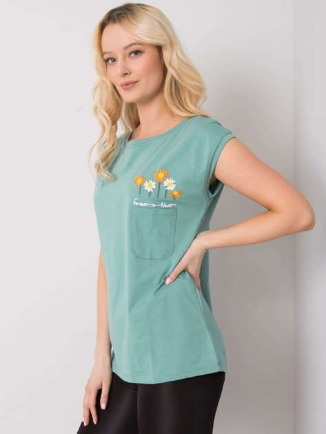 Ciemnomiętowa bluzka Sarah