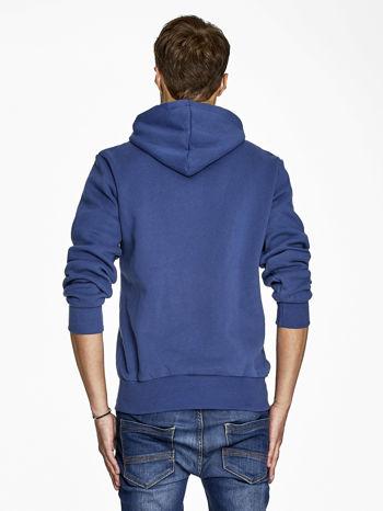 Ciemnoniebieska bluza męska z nowojorskim nadrukiem