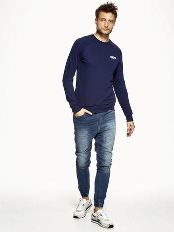 Ciemnoniebieska bluza męska z suwakami                              zdj.                              2