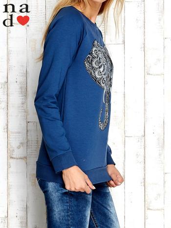 Ciemnoniebieska bluza z nadrukiem słonia                                  zdj.                                  4