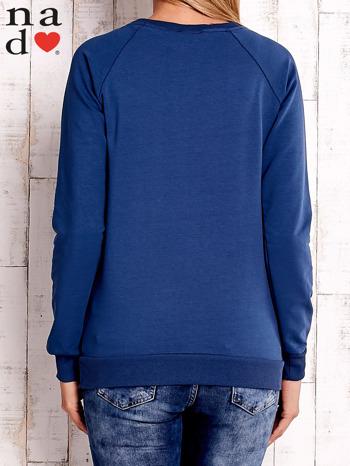 Ciemnoniebieska bluza z napisem SMILER                                  zdj.                                  4